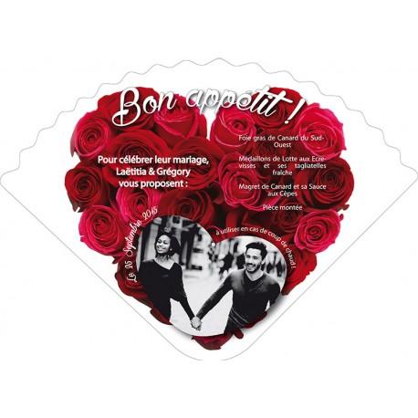 Éventail menu bouquet